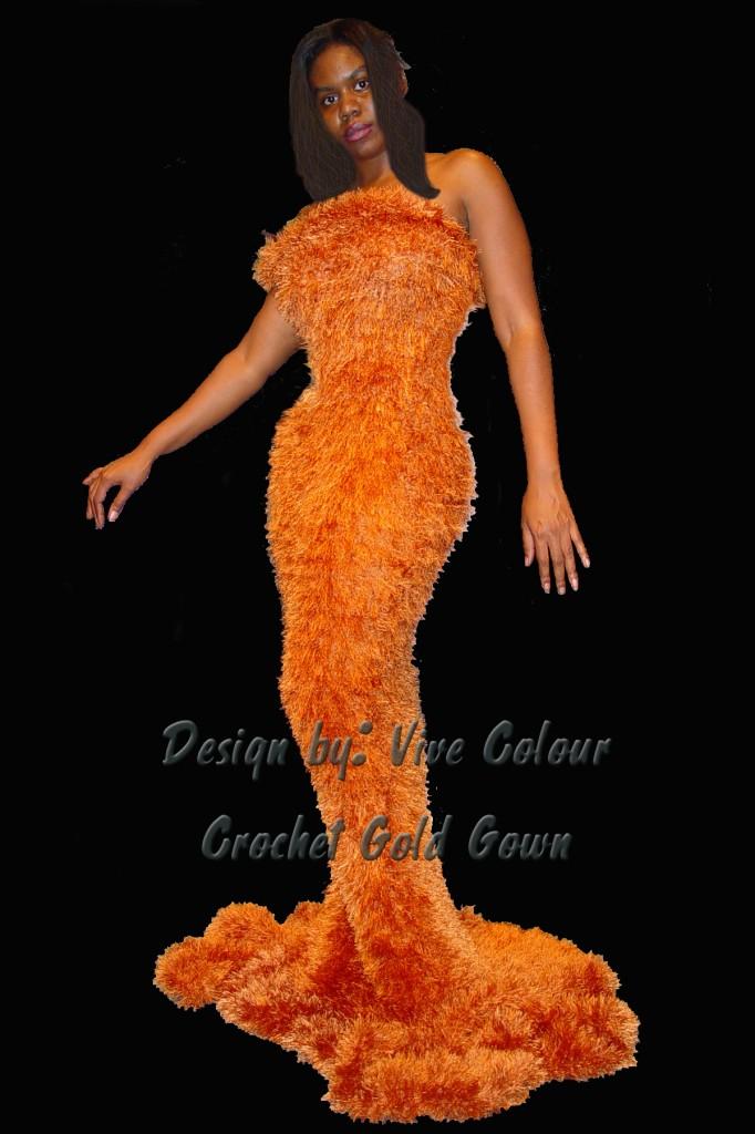 Gold dress blkbkg